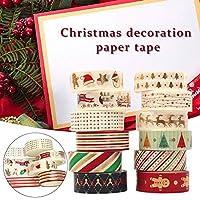 クリスマス マスキングテープ 手帳用 12巻き (8.6X 9.4 X 4.5Cm)