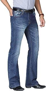 Men's Flared Jeans Loose Fit Stretch Denim Pant