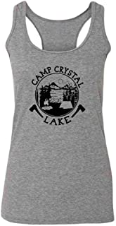 Pop Threads Camp Crystal Lake Counselor T Shirt Horror Costume Fashion Tank Top Tee for Women