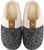 Mishansha Zapatillas de Estar en Casa Hombre Mujer, Zapatillas Casa Memory Foam para Invierno Otoño, Cómodas/Blanditas/Mulliditas y Calientes(Blanco, 40/41)