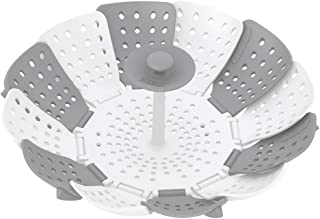 Joseph Joseph 40024 Lotus Steamer Basket for Steaming Food and Vegetable Folding Non-Scratch BPA-Free, Gray