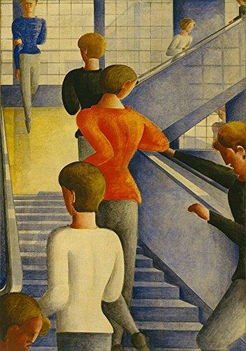 Das Museum Outlet–Oskar Schlemmer–Bauhaus Stairway, gespannte Leinwand Galerie verpackt. 96,5x 121,9cm