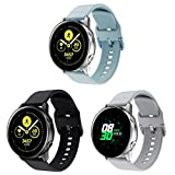 Sycreek Compatible para Samsung Galaxy Active Correa 20mm Pulsera Silicona Suave de Correa de Reloj Ajustable de Repuesto para Samsung Galaxy Watch 42mm/Galaxy Watch 3 41mm/Active 2 40mm/Active 2 44mm