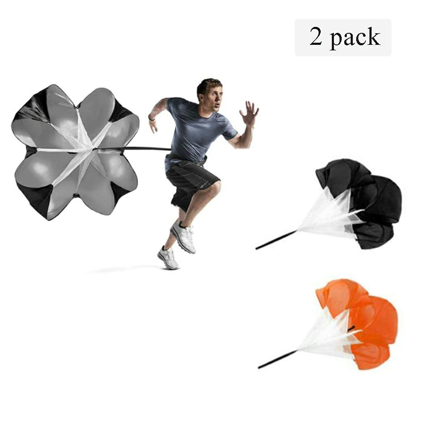 賢明なラケットトランザクション抵抗傘パラシュート子供や大人に適した高パルス速度と耐久性アジャイルスピードトレーニングスライド移動