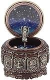 Jeffergarden Caja de música Vintage con 12 Constelaciones, Diosa giratoria, luz LED Parpadeante (Scorpio)