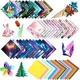 250 Pcs Origami Hecho a Mano,Papel de Origami Plegable DIY Papel de Origami de Doble Cara,Grulla de Papel Origami,Origami de Doble Cara para Proyectos de Arte y Artesanía(15x15cm)