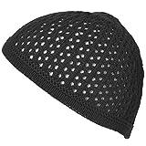 CHARM イスラムワッチ 帽子 [フリーサイズ ブラック] イスラム帽/透かし編み/薄手/ニット帽/キャップ/夏/メンズ/レディース