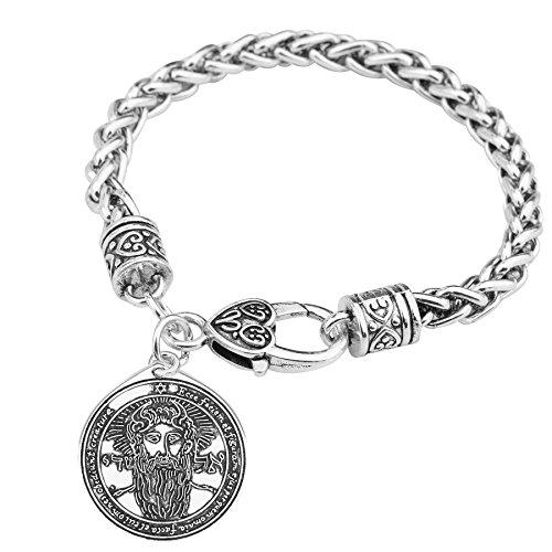 El primer pentáculo del sol clave de Salomón sello colgante pulseras amuleto joya