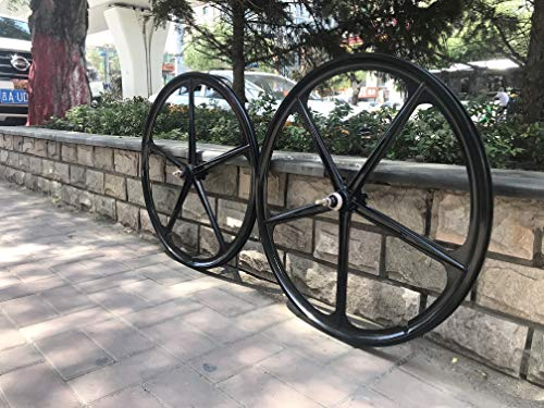 29' Mag Wheel Set F x R 100mmx135mm For Rotary Flywheel 7/8/9s /700c Magnesium Wheels/Black/Disc Brake- for Beach Cruisers, MTB's, and Gas Powered Bicycles