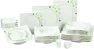 Topkapi Service de table Primavera TK-815 de 28 pièces - En porcelaine durable - Pour 6 personnes
