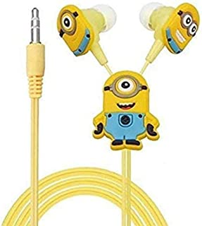 KILLROSS® Meecase Minions in-Ear Wired Earphone with 3 Additional Earplug Covers