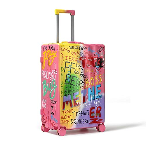 XIANGSHAN Trolley Case - Stylish and Durable PC Trolley Case Large Capacity Graffiti Travel Trolley Case Waterproof Luggage 31 Inch 66 * 25 * 41 Cm
