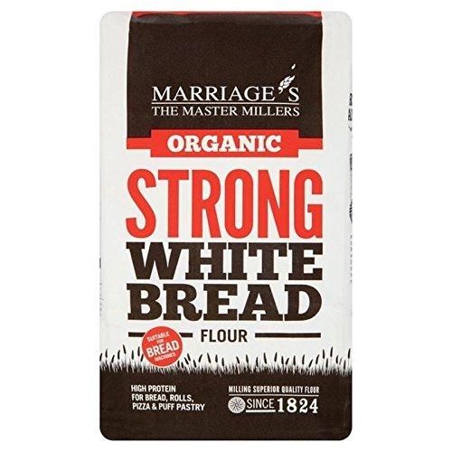 W & H Marriage Organico Forte Pane Bianco Di Farina 1 Kg (Confezione da 6)
