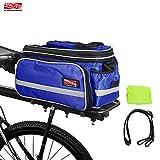 Arltb バイクリアバッグ15-25L防水自転車トランクバッグレインカバーショルダーストラップバイクパニエのテールバックシートバッグパッケージロードバイクマウンテンバイクアクセサリー (青)