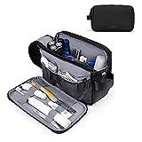 BAGSMART トイレタリーバッグ メンズ 旅行用シェービングドップキット 防水トイレタリーオーガナイザー 旅行アクセサリー用, ブラック1