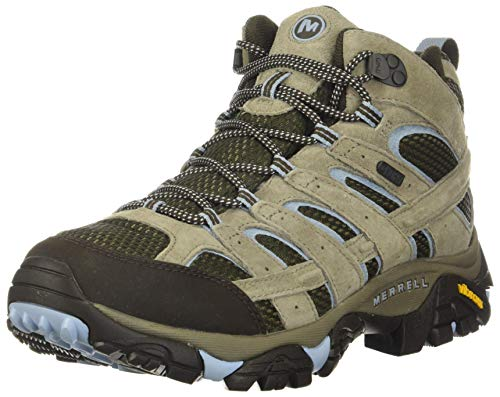 Merrell Women's Moab 2 MID WP Hiking Shoe, Brindle, 8