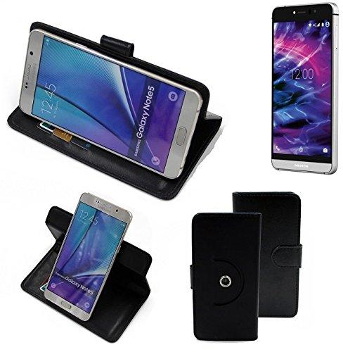K-S-Trade Case Schutz Hülle Kompatibel Mit Medion X5004 Handyhülle Flipcase Smartphone Cover Handy Schutz Tasche Bookstyle Walletcase Schwarz (1x)