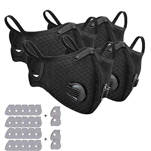 Cubrebocas reutilizable de media cara para filtrar el polvo, con 10 filtros extra de carbón activado, para ciclismo y motociclismo