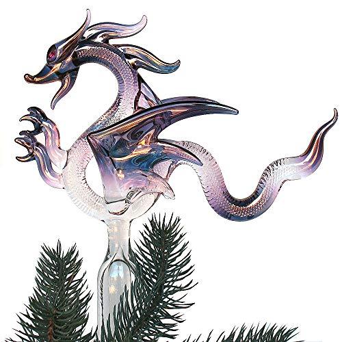 Prochaska Gallery Dragon Christmas Tree Topper Hand Blown Glass Ornament
