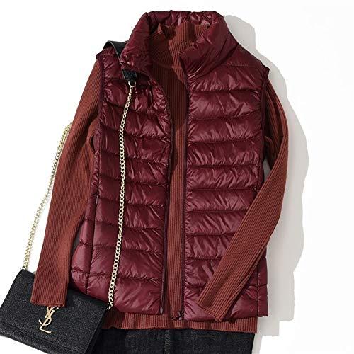 HANGMANGONGLU Dames Gilets Lichtgewicht Down Jacket Collar Vest Korte Alinea Waistcoat Mouwloos Vest Jas Down Jacket voor Winter
