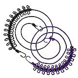 Corde à linge Flexible, Wanxida Portable Étendoir à linge avec 13 Boucles de positionnement noires pour...