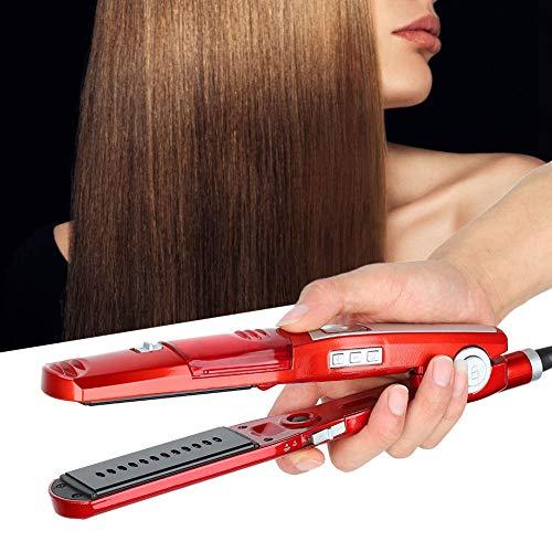 Steam Flat Iron Haarglätter, Professionelles Glätteisen für Haare mit Dampf Schnell aufheizen, Digitale LED-Anzeige, Keramik-Glätteisen in Salonqualität, Dual Voltage Steam Haarglätter
