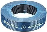 富士電線工業 300V 耐熱ソフトビニルキャブタイヤ丸形コード ソフトVCTFプラス 4心X0.75SQ 黒 100m