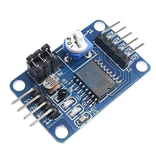 ZTSHBK PCF8591 PCF8591T 3,3 V 5 V Single Low Power Supply 4-Kanal-Analog-AD DA-Steuerplatinenmodul für Arduino Raspberry Pi I2C