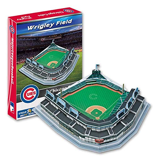 WAN 3D Sports Stadium Puzzle Model, MLB Chicago Cubs Team Home Game Wrigley Baseball Field Model (12 Pulgadas X13 Pulgadas X 4 Pulgadas)