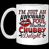 Regalo divertido de la taza de café de la Navidad de Halloween Sólo una taza de café de cerámica del placer gordito incómodo y sucio de 11 oz