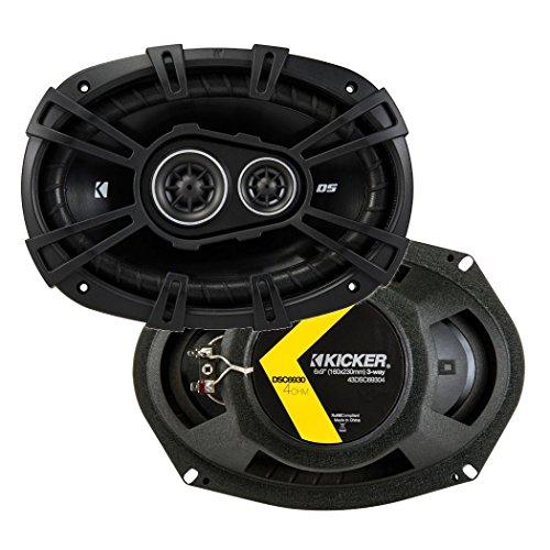 Kicker 43DSC69304 D Series 6x9 Inch 360 Watt 3 Way Dual Speakers with 43DSC6704 D Series 6.75 Inch 240 Watt 2 Way 4 Ohm Car Audio Coaxial Speakers