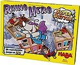 HABA 303205-Rhino Super Battle, emocionante apilamiento en 3D para niños a Partir de 5 años, Habilidad Rhino Hero, Recomendado por el jurado del Juego Infantil del Año. (303205)