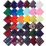 SATINIOR 36 Pieces Pocket Square Handkerchief...