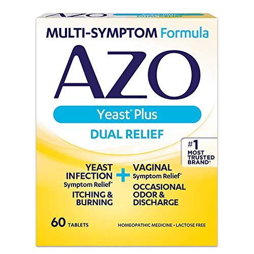 AZO Yeast Plus Tablets 60 ea (Pack of 6) - Packaging May Vary