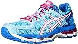 ASICS Women's Gel kayano 21 Running Shoe,Powder Blue/White/Hot Pink,6.5 M US