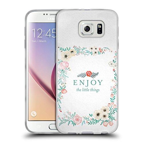Head Case Designs Oficial Cat Coquillette Pequeñas Cosas Letras Carcasa de Gel de Silicona Compatible con Samsung Galaxy S6