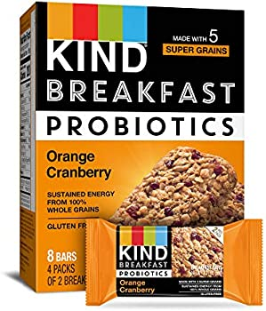 32-Count KIND Breakfast Probiotic Bars, Orange Cranberry