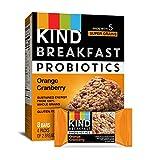 KIND Breakfast Probiotic Bars, Orange Cranberry 32 Count