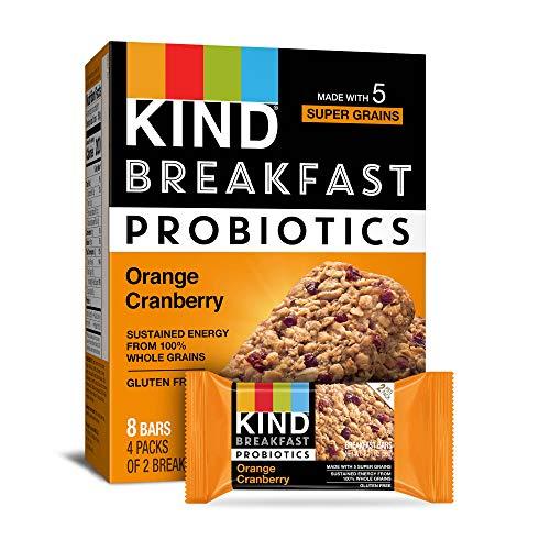 KIND Breakfast Probiotic Bars Orange Cranberry 32-Count Now $13.26 (Was $22.24)