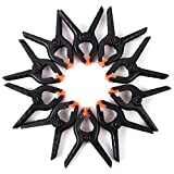 10x milopon 2Inch Negro Plástico Nylon Fotografía Pinzas Heavy Duty...