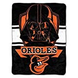 Officially Licensed MLB Baltimore Orioles Disney's Star Wars Co-Branded 'Vader Shield' Micro Raschel Throw Blanket, 46' x 60', Multi Color