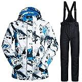 Morningtime Skianzug Herren 2 teilig Set Winddichte Wasserfeste Skijacke