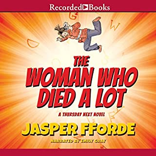 The Woman Who Died a Lot audiobook cover art