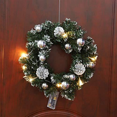 Luz de Nocturna 15/20/30 / 40CM Tabla Pino de Navidad LED de luz nocturna luz de la decoración del árbol de Navidad Mini árbol Decoración de Navidad Año Nuevo regalo ( Color : Silver light 30cm )