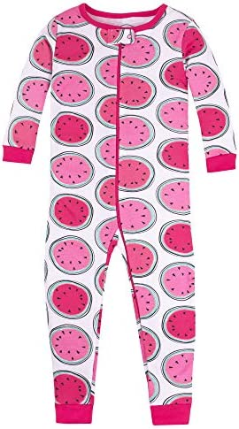 Lamaze Organic Baby Girls Stretchie One Piece Sleepwear Baby and Toddler Footless Zipper Watermelons product image