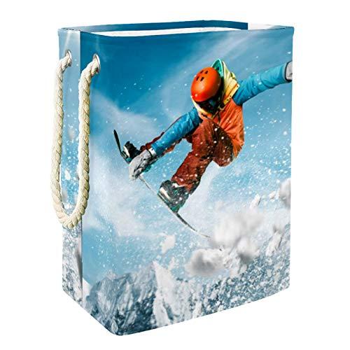 Yuzheng Esquí Deportivo 01 Cesto de la Ropa plegable, Cesto de la Ropa con asas Cesta del organizador del hogar per Home , Dorm , Hotel 60L