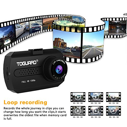Dash Cam - TOGUARD Mini Dash Camera for Cars HD 1080P Wide Angle 1.5