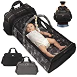 Travel Bassinets for Babies - Portable Bassinet Baby | Diaper Bag Backpack Baby Bag Crib Combo | Insulated Bottle Changing Station | Co Sleeper Foldable Portable Baby Bed | Moises para bebes mens bags