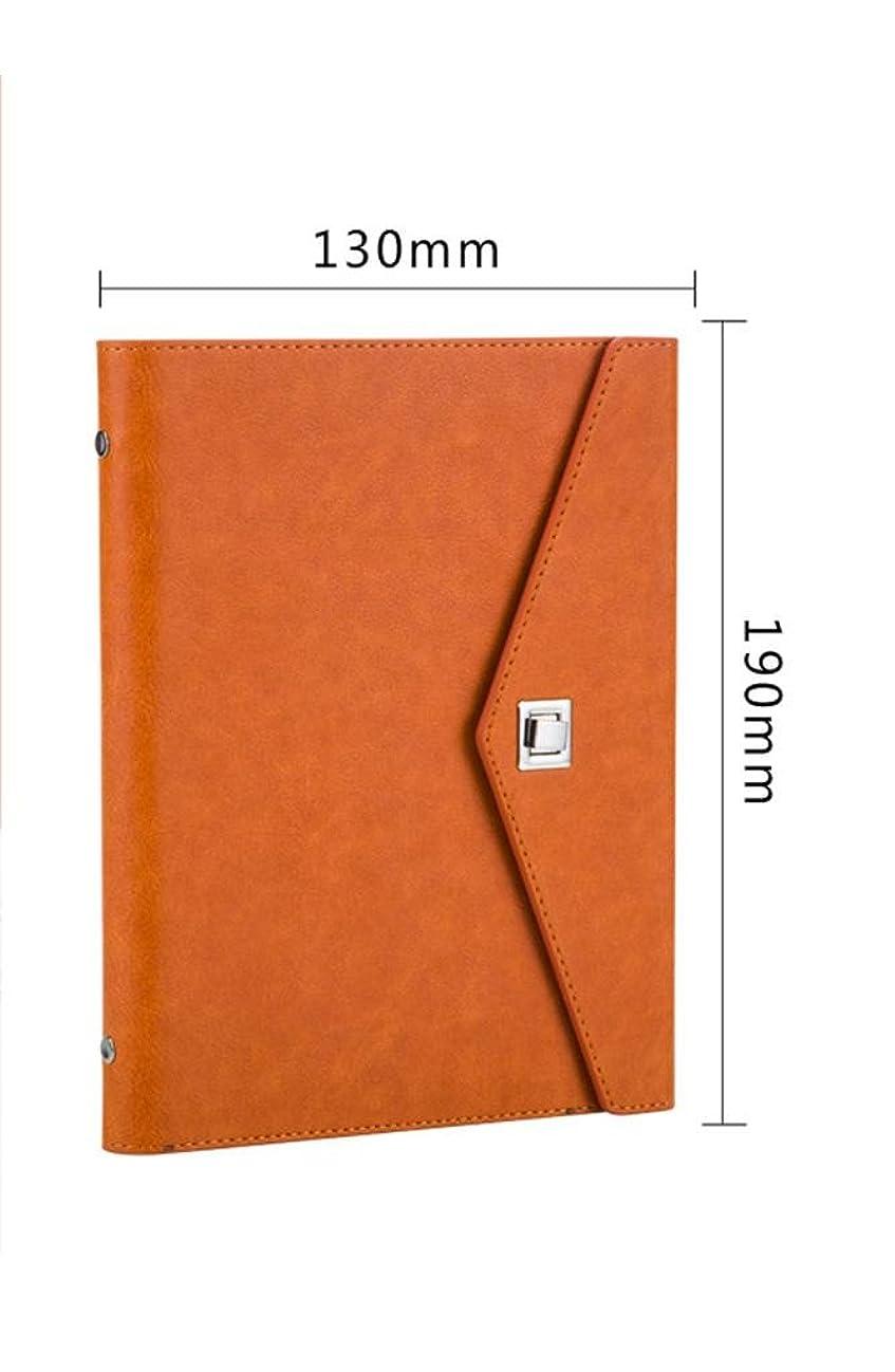 アコー道路驚くべきファッションシンプルな3つ折りのノートブックは特にLOGO17.5 * 23.5cmだけ印刷することができます , orange (a6 trumpet)