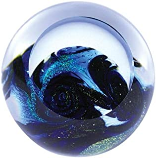 Glass Eye Studio Blue Planet Blown Glass Paperweight